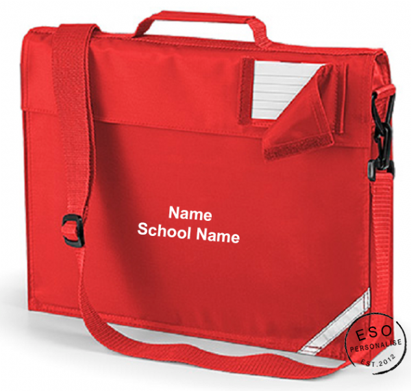 Personalised School Book Bag with Strap